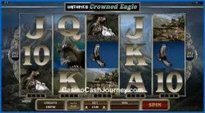 win jackpot with crowned eagle slot